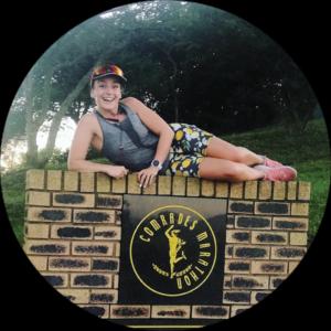Elizabeth Gallias on Comrades Marathon wall